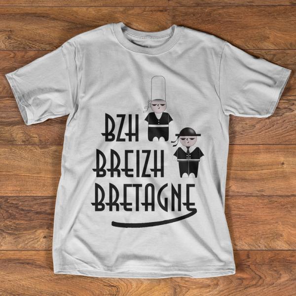 T-shirt Bzh Breizh Bretagne
