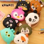 Porte monnaie petit pochon silicone Funny animaux Kawaii