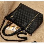 Grand Sac Femme Porte epaule Noir Matelasse City Chic Classique