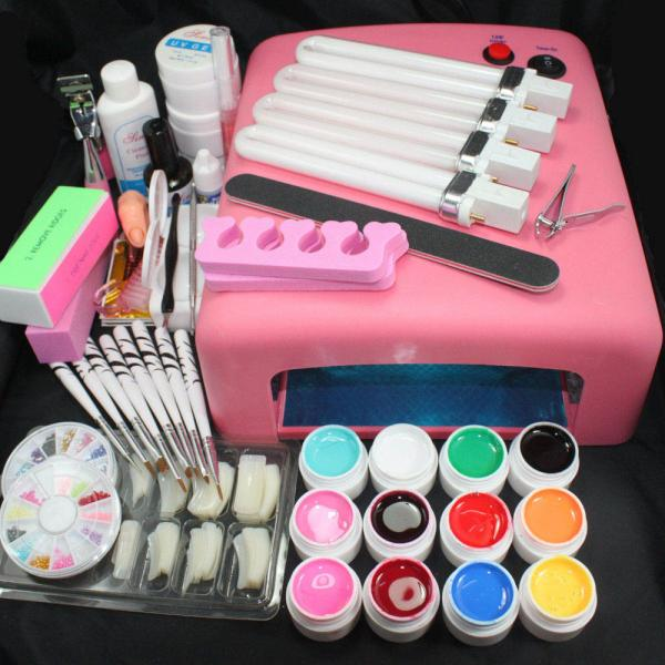 Kit Pro complet Lampe UV Manucure Ongles Nail Art 12 Couleurs