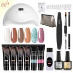 Kit PolyGel Manicure Ongles Lampe UV Pro Nail