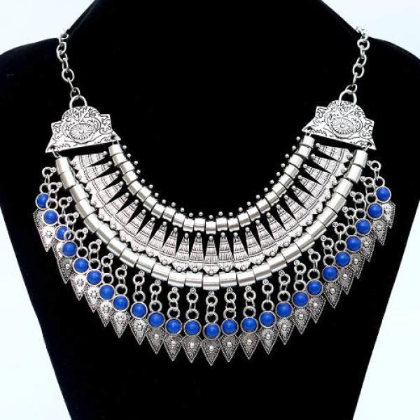 Collier Ethnique Bohemien Boheme Perles Gypsy