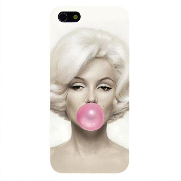 Coque iPhone 5/5s 6 pour Apple MARYLIN MONROE chewin gum Fashion case