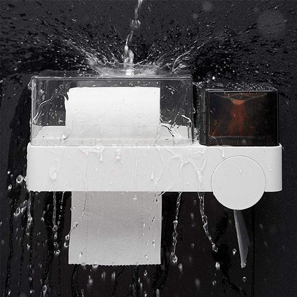 Porte Papier toilette WC Boite Hygiene plus Porte telephone