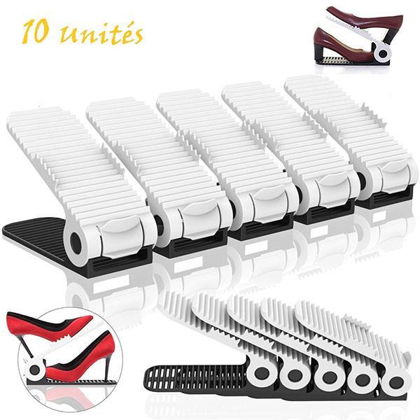 Organiseur Chaussures Rangement reglable Lot de 10