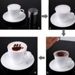 16 Pochoirs pour Cappuccino Cafe Chocolat Boissons chaudes ou Cupcakes