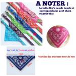 Bandana Collier Chien Chat Fashion Pet Foulard Couleur