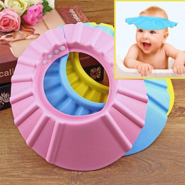 Casquette visiere Bebe Enfant anti shampoing pour la Douche Bain