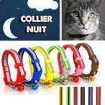 Collier Chat Lumineux Reflechissant Lumiere Promenade tranquille Nuit