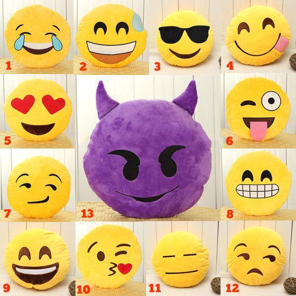 Coussins Emoji Emoticones Funny Drole Geek Cadeau