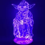 Lampe Design Star Wars Collection 3D Saga Maitre Yoda Geek