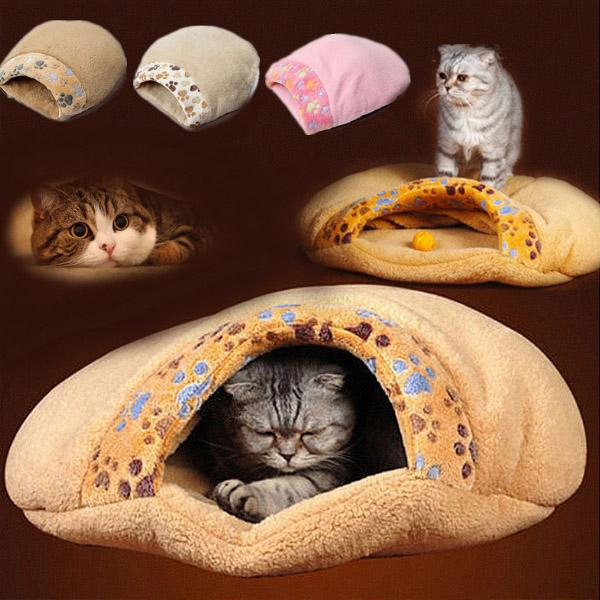 Niche Lit Pour Chat Igloo Moelleux Panier Coussin Bed Time