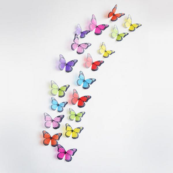 Stickers Papillons 3D decoratifs Maison Sublime lot de 18