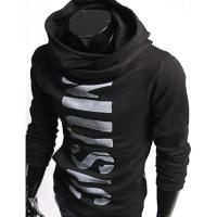 Hoodie Pull Sweat a col montant Homme Fashion Noir