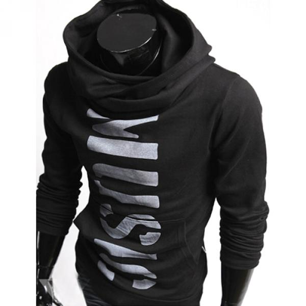 Hoodie Pull Sweat a col montant Homme Fashion