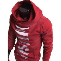 Hoodie Pull Sweat a col montant Homme Fa...