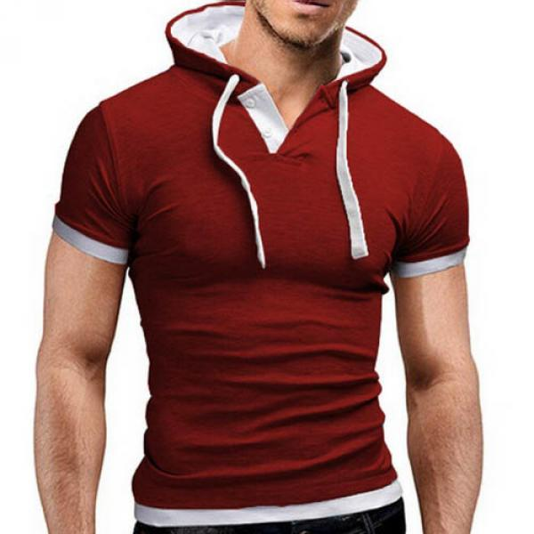 T shirt Fashion Sport capuche Fitted Rouge