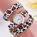 Montre Femme Bijou braclet multi tours leopard Fashion