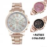 Montre Femme Cadran Rond Color Fashion Chic
