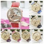 Montre Strass et Papillon Cadran Rond Quartz fantaisie Fashion