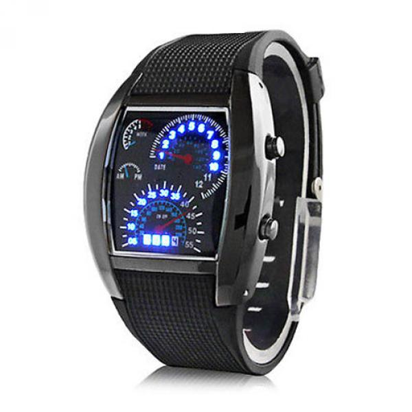 Montre homme Digital Cadran Rectangulaire LED Sport watch