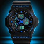 Montre Homme Sport Military Chrono Silicone Fashion 2014 Bleu
