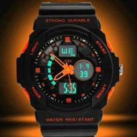 Montre Homme Sport Military Chrono Silicone Fashion 2014 Orange