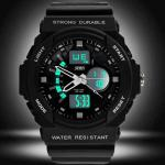 Montre Homme Sport Military Chrono Silicone Fashion 2014 Argent