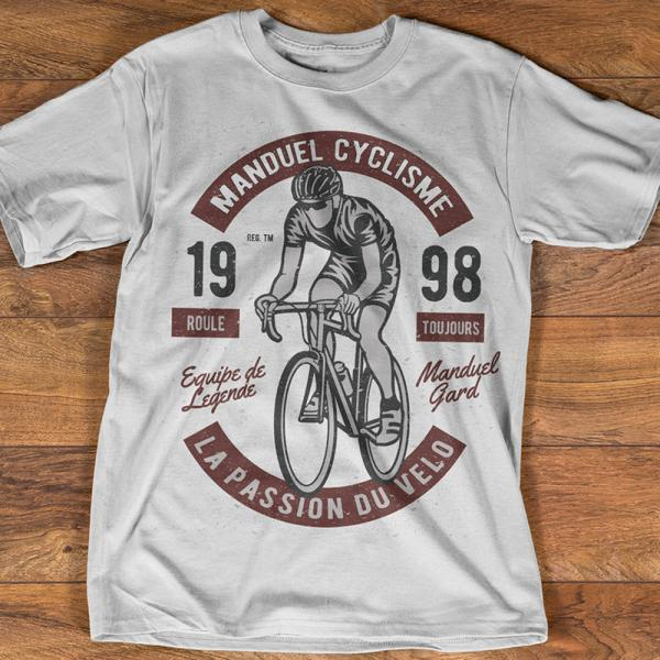 T-shirt Homme  Vélo Manduel Cyclisme