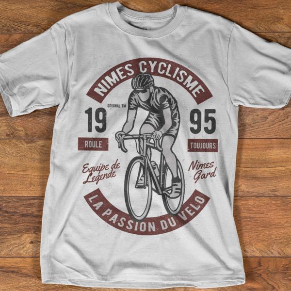 T-shirt Homme Vélo Nimes Cyclisme