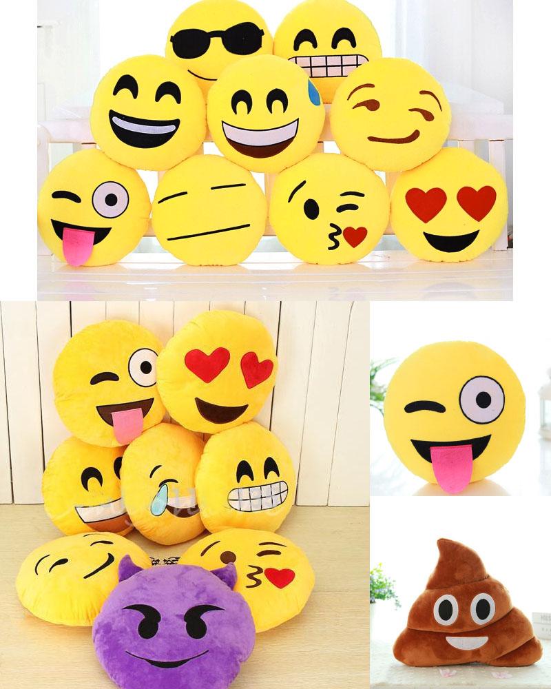 Funny Emoticones Drole Cadeau Emoji Coussins Geek wOkiZPXuT