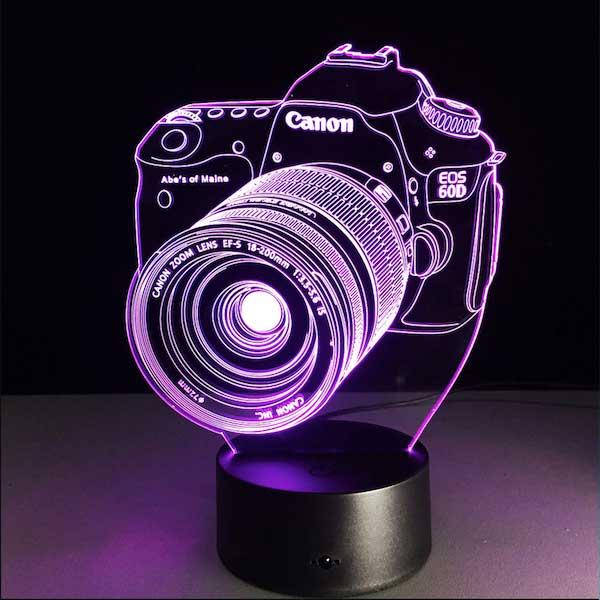 Lampe 3D Night Light Led Canon