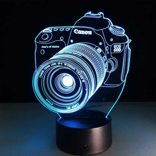 Lampe 3D Appareil Photo Canon